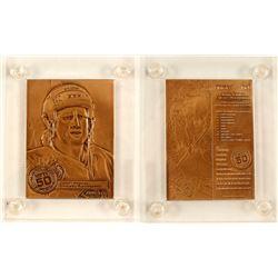 Bronze Plaquette of Jeremy Roenick