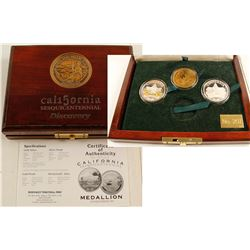 "California Sesquicentennial ""Discovery"" Partial Medal Set 2"