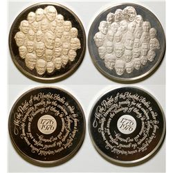 Franklin Mint Bicentennial Medal Set