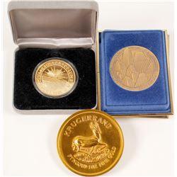 Kruggerand & Brasher Doubloon Replicas/ ANA Medal