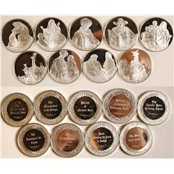 Religious Silver Medals