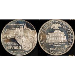 Nevada Centennial Silver Commemorative Coin