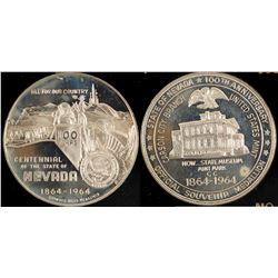 Nevada Centennial Silver Commemorative Coin