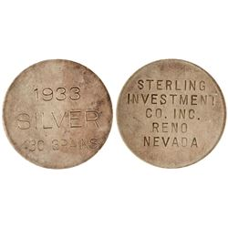 Sterling Investment Co, Reno Silver HK 821