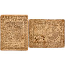 Continental Currency, Nov 2, 1776 $2