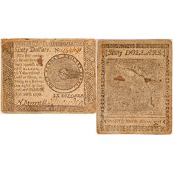 Continental Currency, Sept. 26, 1778  $60
