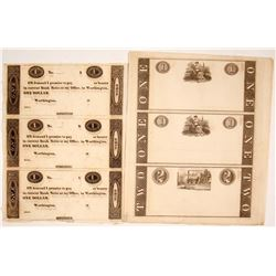Early Banknote Proof Sheets