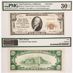 US $10, Bank of America, San Francisco