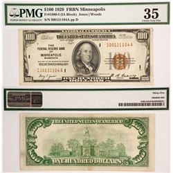 US $100, FR 1890-I, Minneapolis