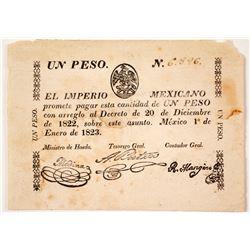 1823 Un Peso, El Imperio Mexicano
