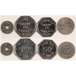 Five Assorted Tokens