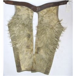 Clark, Portland, White Wooley on sheepskin chaps