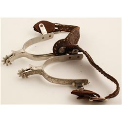 Fleming Silver Inlaid Spurs
