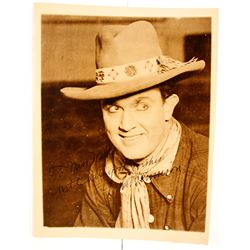 Autographed Photograph of Cowboy Western Film Star Louis Bennison