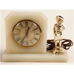 Cowgirl Electric Clock