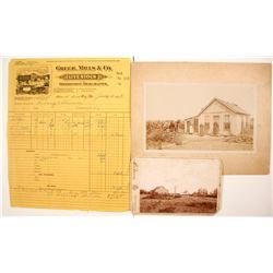 Farming/Ranching Photographs & Billhead