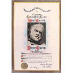 Lorne Greene Award