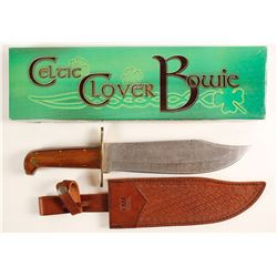 Celtic Clover Bowie Knife