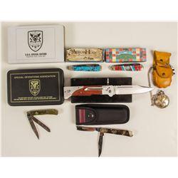 Pocket watch and pocket knives