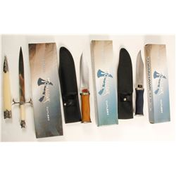 Set of Three Tomahawk brand knives