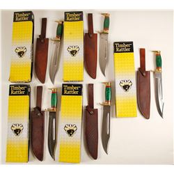 Timber Rattler Bowie knives set of five