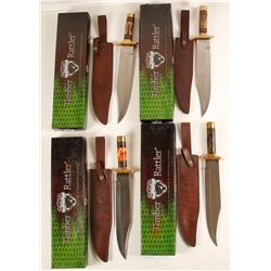 Timber Rattler Bowie knives set of four