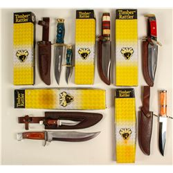 Timber Rattler grouping; five knife combination