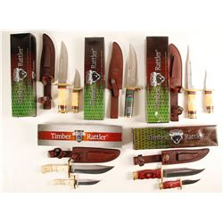 Timber Rattler hunter style knives