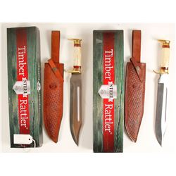 Two Timber Rattler Bowie knives TR120