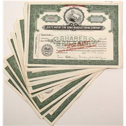 Colt's Patent FIre Arms Manufacturing Company stock Certificates