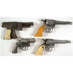 Toy cap gun collection of four
