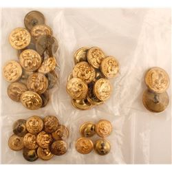 Forty Misc. Navy Buttons
