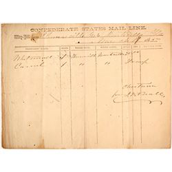 Confederate States Mail Line, 1865