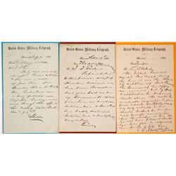 Three Civil War Virginia Telegraphs