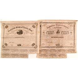 2 Confederate Bonds