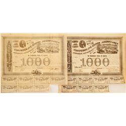 2 Confederate War Bonds
