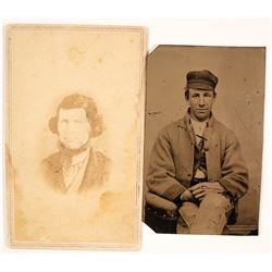 Confederate Civil War Tintype & CDV