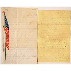 Illustrated Civil War Letter Sheet and a Civil War Era Letter
