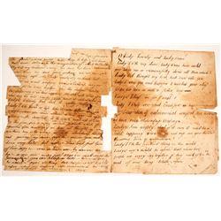 Letter Written During Civil War Era