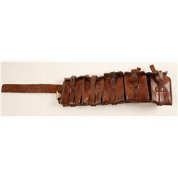WWI Leather Ammo Belt