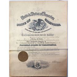 Commission Certificate for National Guard of California