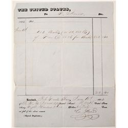 1853 Fort Ewell, Texas US Army Receipt