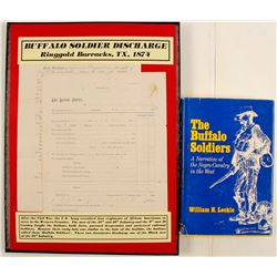 Buffalo Soldier Discharge Papers and Book