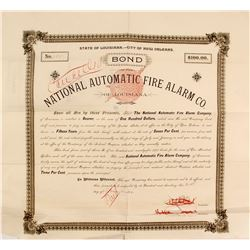 Bond of National Automatic Fire Alarm Co.