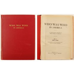 Who Was Who in America by Marquis, 1897-1942