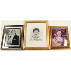 3 Framed Hollywood Autographed Photos