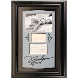 Marilyn Monroe Ink Signature & Payroll Card From 20th Century Fox
