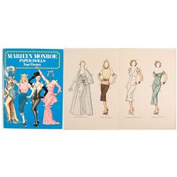 Marilyn Monroe Paper Dolls Cut Out Book by Tierney