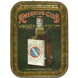 Decorative Platter Americus Club Whiskey