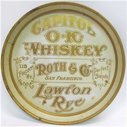 Platter Advertising Capitol OK Whiskey